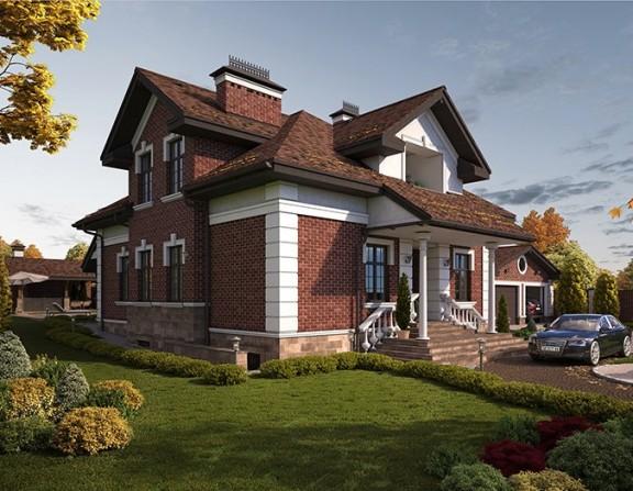 Жилой комплекс в составе жилого дома, гаража, бани, крытого навеса, бассейна