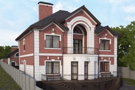 Жилой комплекс в составе жилого и гостевого домов, гаража, домика для охраны