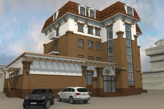 Реконструкция жилого дома под офисное здание